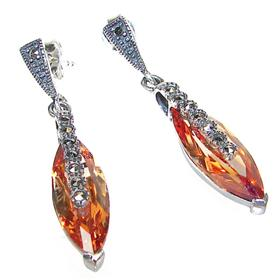 Honey Topaz Sterling Silver Earrings