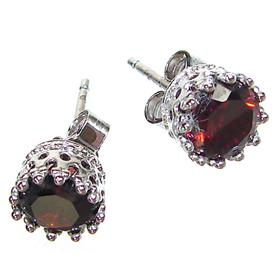 Splendid Garnet Sterling Silver Earrings