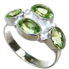 Fancy Royal Peridot Sterling Silver Ring size P 1/2