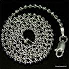 Beads Sterling Silver Chain 18 inches 0.8mm