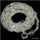 Twisted Singapure Sterling Silver Chain 22 inches 2mm
