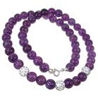 Designer Amethyst Sterling Silver Necklace 18 inches long