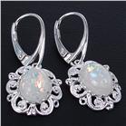 Created Opal Sterling Silver Earrings