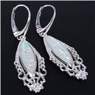 Created Opal Sterling Silver Earrings