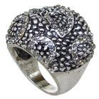 White Quartz Fashion Ring size P